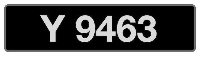 'Y 9463' UK vehicle registration number