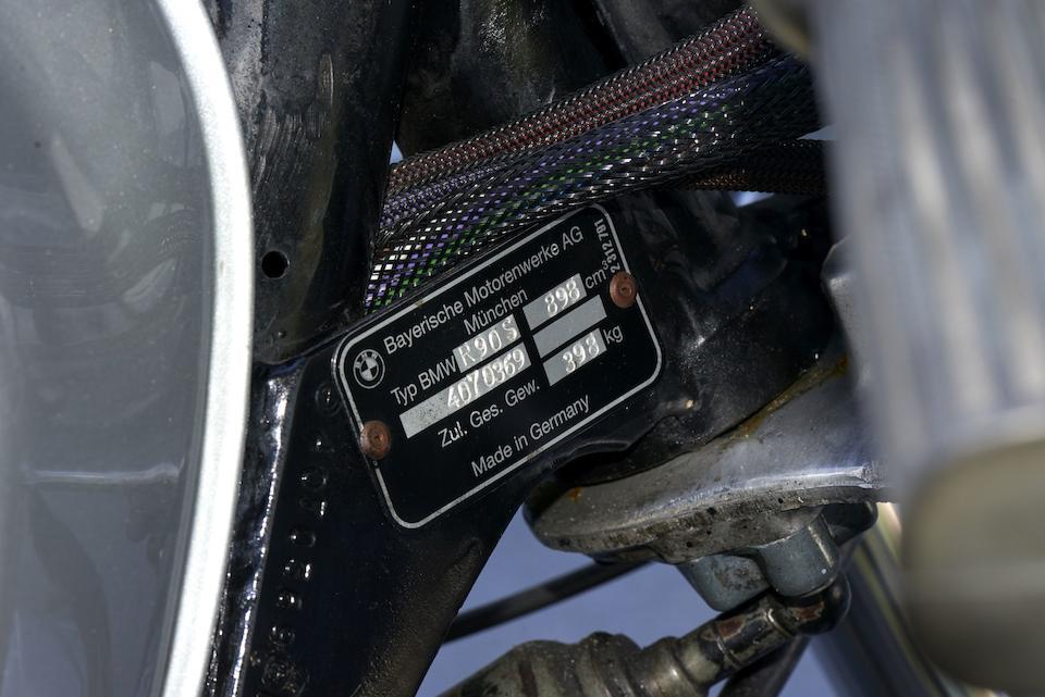 c. 1975 BMW 898cc R90S Frame no. 4070369 Engine no. 4070369
