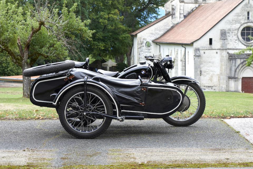 1939 BMW 750cc R71 & Stoye Sidecar Frame no. 510286 Engine no. 701089