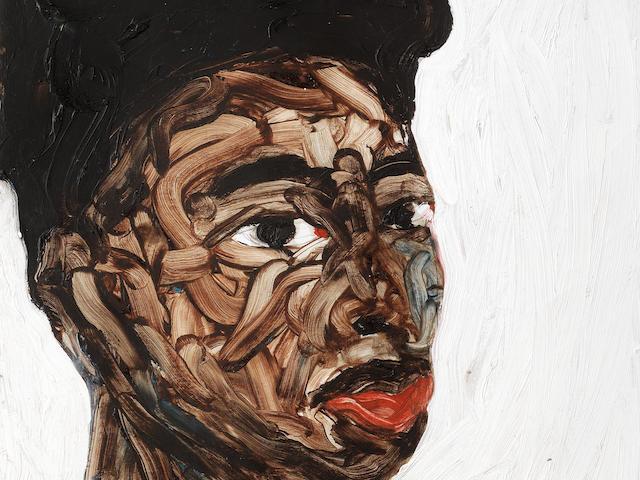 Amoako Boafo (Ghanaian, born 1984) Portrait