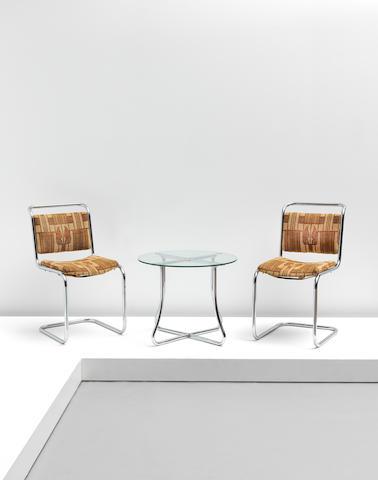 PEL (Practical Equipment Ltd) Pair of 'Spring' side chairs, model no. SP2, 1930-1931
