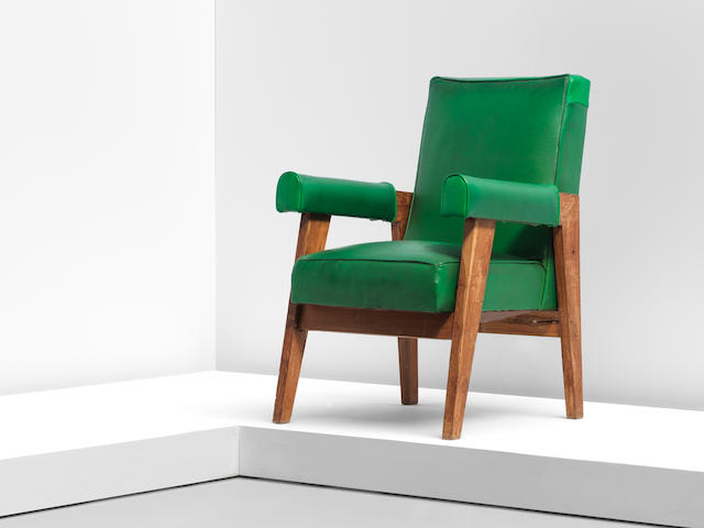 Le Corbusier and Pierre Jeanneret 'Advocate and Press' armchair, model no. LC/PJ-SI-41-A, designed for the High Court, Chandigarh, circa 1955