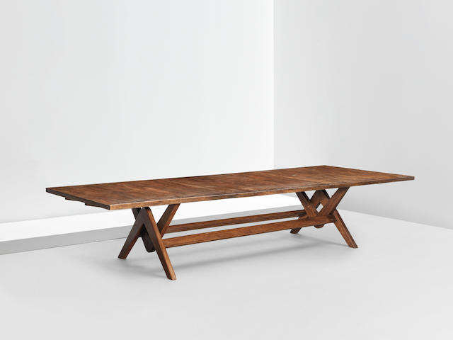 Le Corbusier and Pierre Jeanneret 'Committee' table, model no. LC/PJ-TAT-14-B, designed for the Assembly, Chandigarh, 1963-1964
