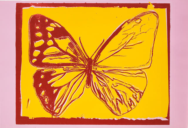 ANDY WARHOL (1928-1987) Butterfly, from Vanishing Animals, 1986 (This work is one of a small number of impressions. )
