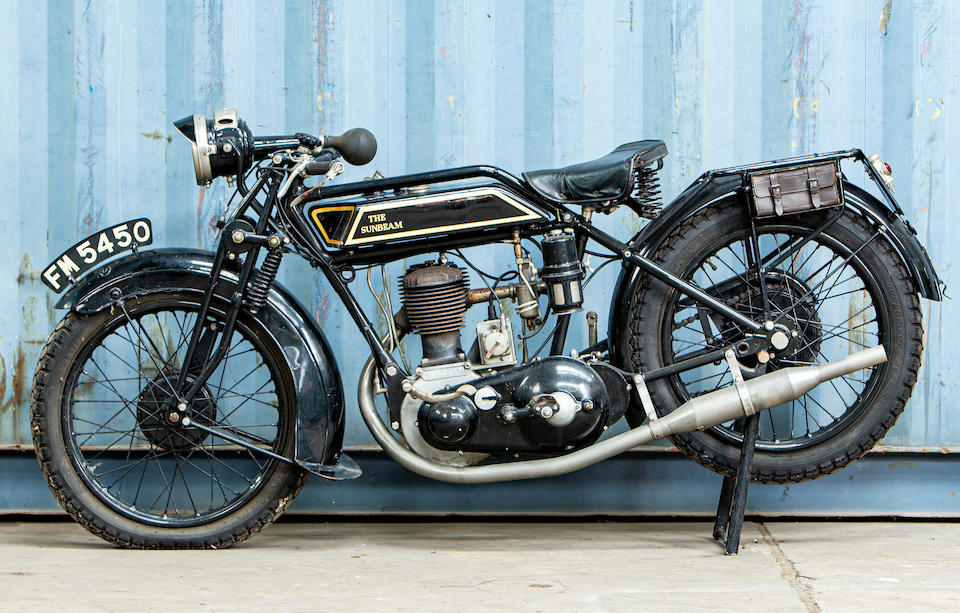 Offered from the Collection of Carole Nash,c.1928 Sunbeam 3½hp Model 6 'Longstroke' Frame no. B2094 Engine no. J2422