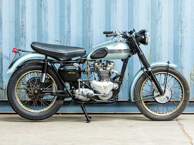 Offered from the Collection of Carole Nash,1955 Triumph 499cc Trophy Frame no. 64038 Engine no. TR5 64038
