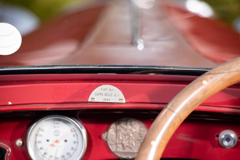 Offered with a 2020 Mille Miglia participation ticket,1931 FIAT Tipo 514 CA 'Coppa del Alpi' Competition Roadster  Chassis no. 224393 Engine no. 125071