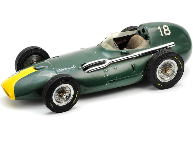 A 1:12 scale model of a Vanwall Grand Prix car by Michele Conti, Italian,