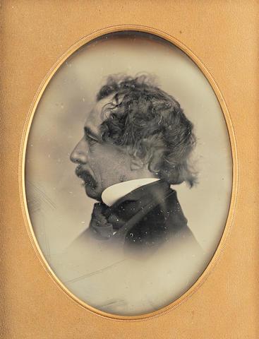 DICKENS (CHARLES) MAYALL (JOHN JABEZ EDWIN) Profile portrait of Charles Dickens, 1853-1855