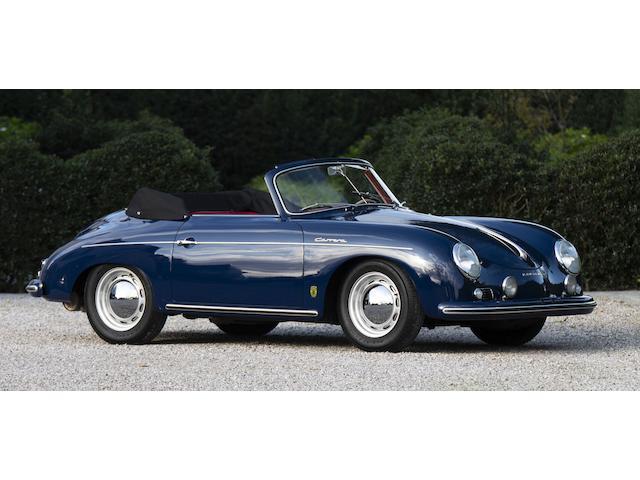PRIVATE TREATY SALE - Delivered new to Prinz Friedrich zu Furstenberg,1956  Porsche  356A 1500 GS T1 Carrera Cabriolet  Chassis no. 61163 Engine no. P90821