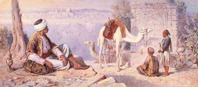Joseph Austin Benwell (British, 1816-1886) Jerusalem from Bethany