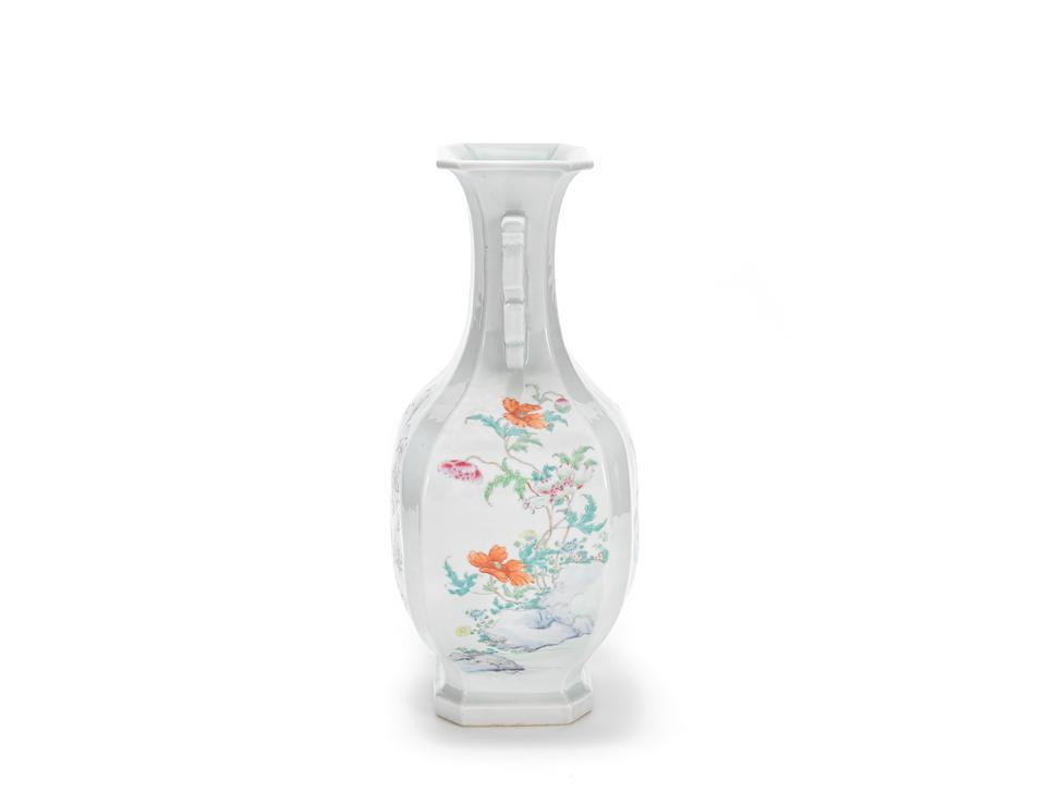 A famille rose baluster vase Yongzheng