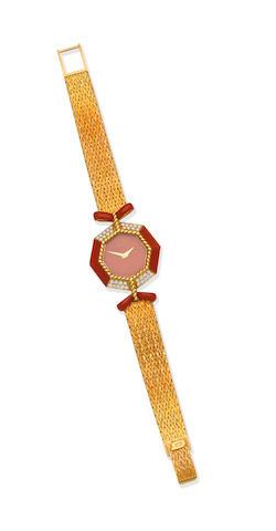 DeLaneau: Gem-set watch, circa 1970