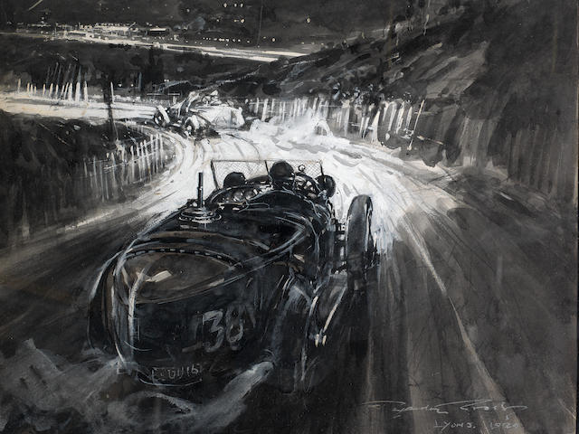 Frederick Gordon Crosby (British 1885-1943), 'Grand Prix du Tourisme - Lyon 1924',