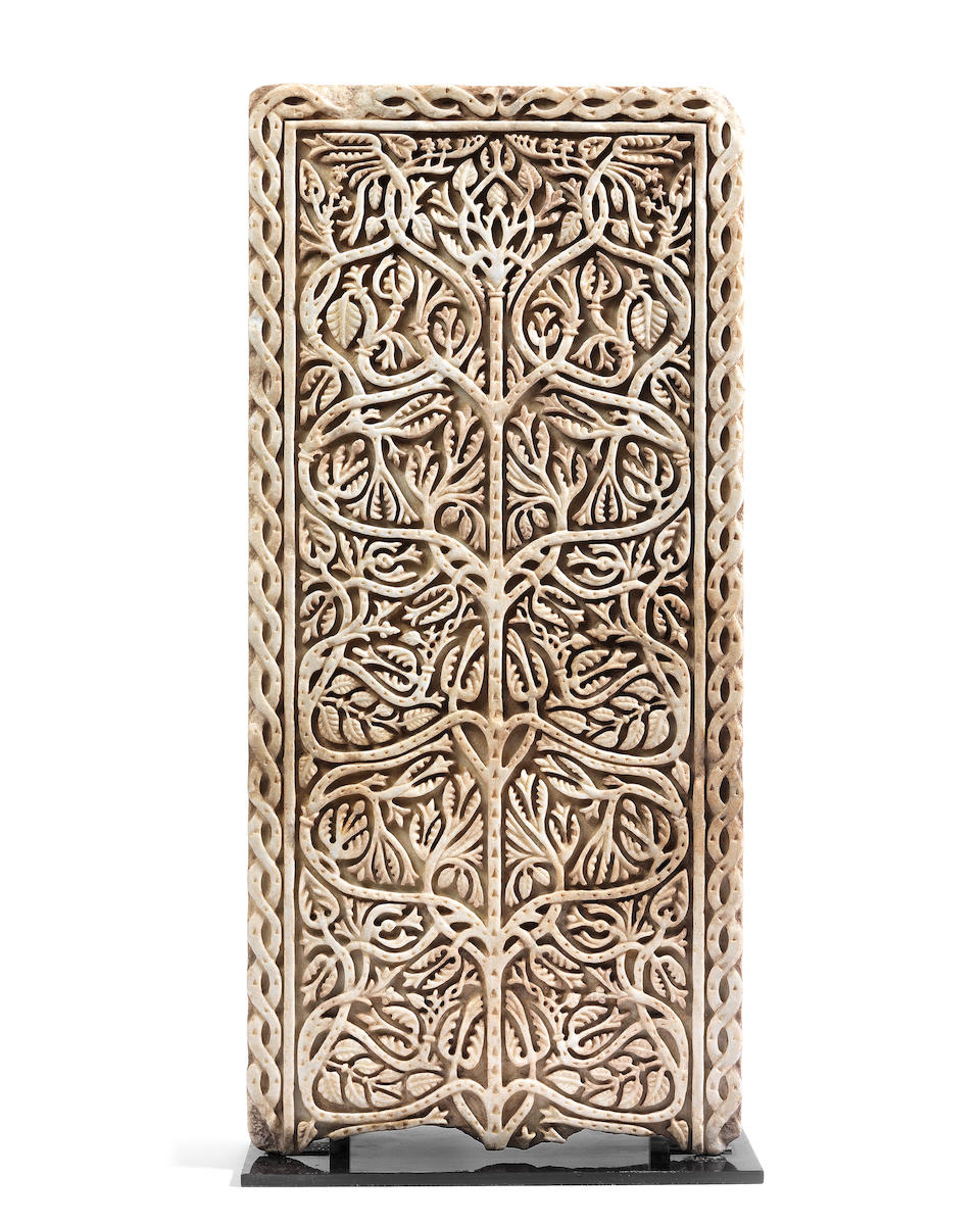 An Umayyad carved marble panel Cordoba, probably Medinat al-Zahra', 10th Century