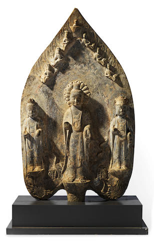 A large limestone Buddhist stele Eastern Wei Dynasty or later  (2)