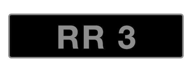 UK Vehicle registration number 'RR 3',