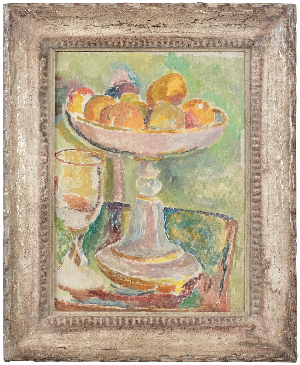 Duncan Grant (British, 1885-1978) Still life with compotier and glass 41.9 x 31 cm. (16 1/2 x 12 1/4 in.) (Painted circa 1916)