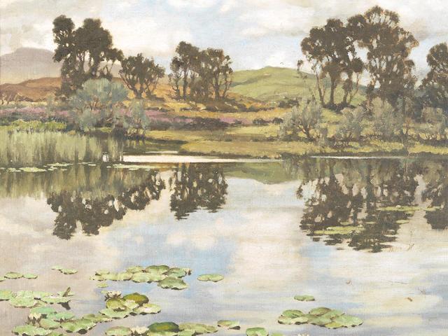 Charles Oppenheimer RSA RSW (British, 1876-1961) A Galloway lochan