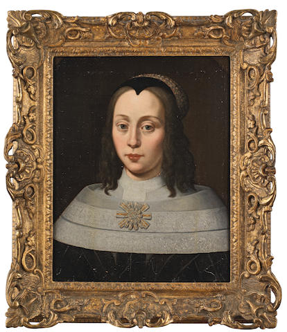 Follower of Jacob Gerritsz. Cuyp (Dordrecht 1594-circa 1651) Portrait of a lady, bust-length, in black, within a painted oval