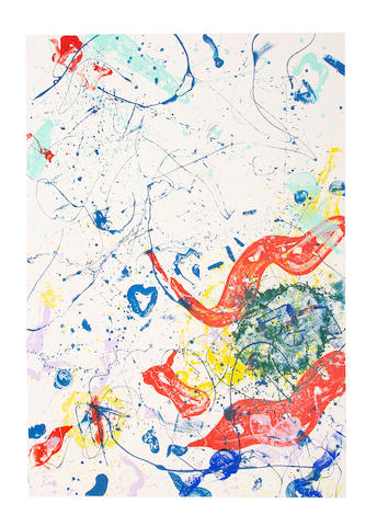 Sam  Francis (1923-1994) Untitled Screenprint in colours, 1986, on Exeter wove paper, signed and numbered 'CTP 3' in pencil, one of ten unique colour trial proofs aside from the edition of 56, published by Gemini G.E.L., Los AngelesSheet 2134 x 1530mm. (84 x 60 1/4in.)