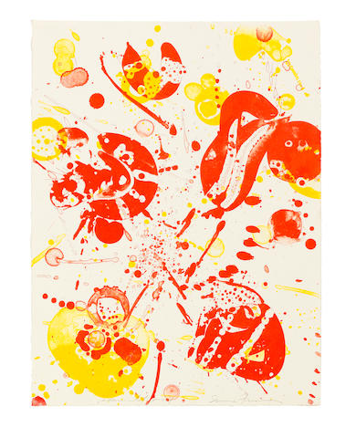 Sam  Francis (1923-1994) An 8 Set - 4, from the Pasadena Box  Lithograph in colours, 1963, on Rives BFK wove paper, signed and inscribed 'experimental proof', one of eight unique variants aside from the edition of 100, published by Pasadena Art Museum, CaliforniaSheet 381 x 284mm. (15 x 11 1/4in.)