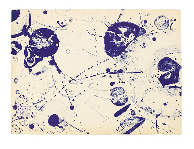 Sam  Francis (1923-1994) An Other Set - Y (two panels from the triptych), from the Pasadena Box Two lithographs in colours, 1964, on wove paper, each signed in pencil, SF-75 inscribed 'trial proof' and SF-76 inscribed 'unique essais' in pencil, two proofs, one a unique variant, aside from the edition of 100, published by Pasadena Art Museum, CaliforniaSheet 433 x 585mm. (17 x 23in.) (and smaller) 2