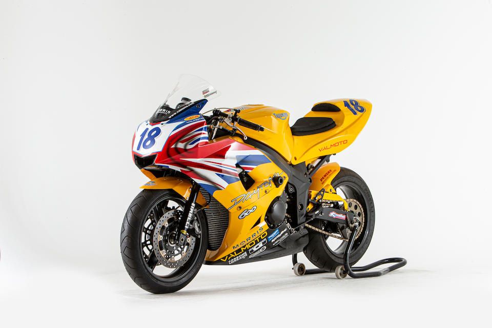 Offered from the National Motorcycle Museum Collection, Ex-Works, Craig Jones, 2003 Isle of Man TT, 2003 Triumph ValMoto 599cc Supersport Racing Motorcycle Frame no. 070103 Engine no. TVM14