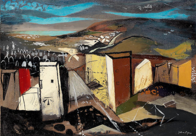 John Piper C.H. (British, 1903-1992) Stone Gate, Portland 71.8 x 102 cm. (28 1/4 x 40 1/8 in.) (Painted in 1950)