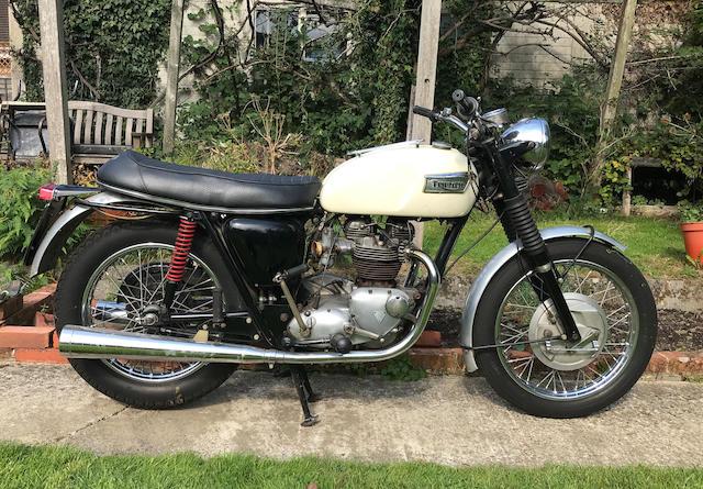 1969 Triumph 650cc TR6P Police Motorcycle Frame no. DC 17865 TR6P Engine no. TR6P DC 17865