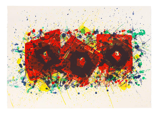 Sam  Francis (1923-1994) Untitled Variants Lithograph in colours, 1981, on Rives BFK wove paper, signed and inscribed 'CTP' in pencil, one of 19 unique colour trial proofs, published by The Litho Shop Inc., Santa Monica, California Sheet 756 x 1065mm. (29 3/4 x 41 7/8in.)