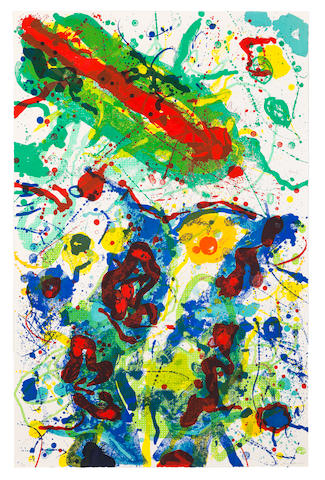 Sam  Francis (1923-1994) Untitled Lithograph in colours, 1989, on Waterleaf wove paper, signed and numbered 2/50 in pencil, published by The Litho Shop, Inc., Santa Monica, CaliforniaSheet 1176 x 760mm. (46 1/4 x 29 7/8in.)