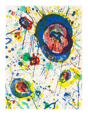 Sam  Francis (1923-1994) Untitled Lithograph in colours, 1986, on Rives BFK wove paper, signed and inscribed 'CTP III' in pencil, one of five unique colour trial proofs aside from the edition of 45, published by The Litho Shop Inc., Santa Monica, CaliforniaSheet 762 x 572mm. (30 x 22 1/2in.)