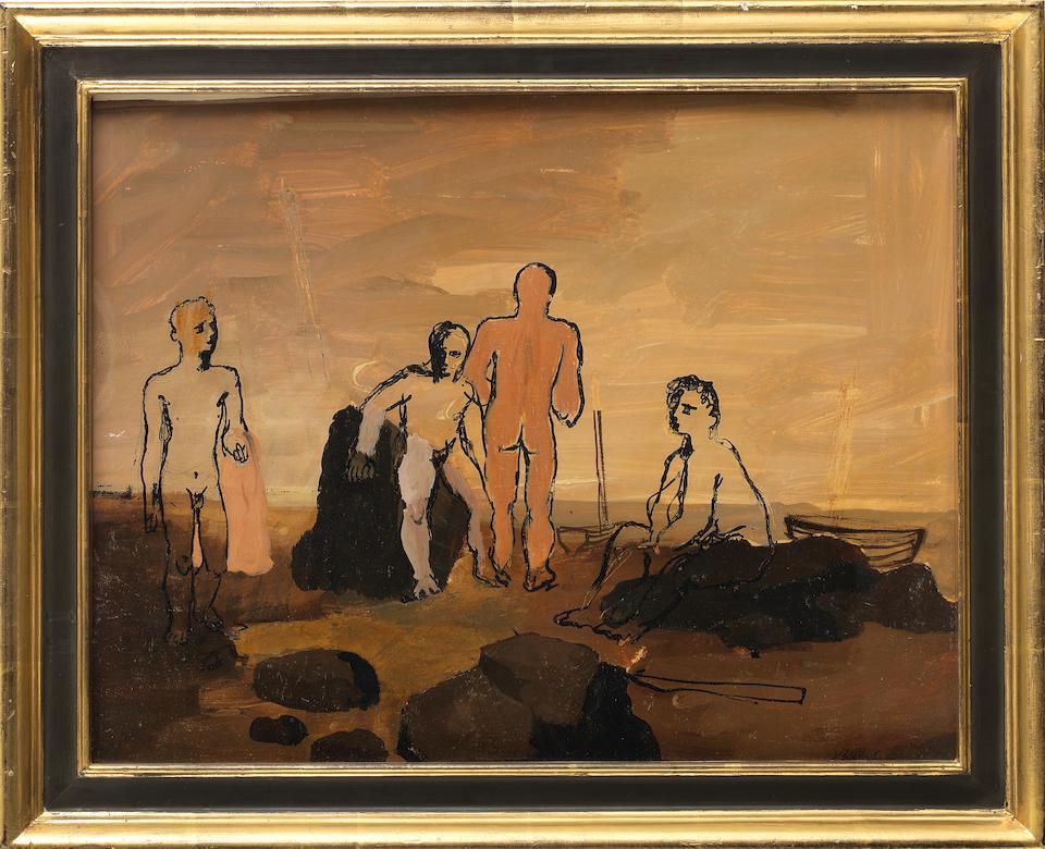 Keith Vaughan (British, 1912-1977) Ulysses III 32 x 40.6 cm. (12 1/2 x 16 in.)
