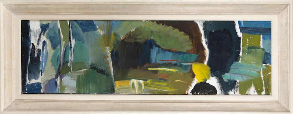 Ivon Hitchens (British, 1893-1979) Caves of Green No.3 44 x 145.5 cm. (17 1/4 x 57 1/4 in.)