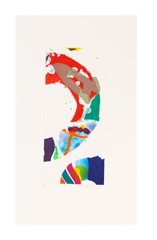 Sam  Francis (1923-1994) Untitled Aquatint in colours, 1993, on wove paper, signed and numbered 25/26 in pencil, published by The Litho Shop Inc., Santa Monica, California Plate 416 x 186mm. (16 3/8 x 7 3/9in.); Sheet 647 x 390mm. (25 1/2 x 15 3/8in.)