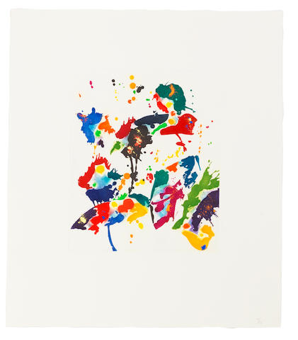 Sam  Francis (1923-1994) Untitled Etching in colours, on wove paper, signed and numbered 10/22 in pencil, published by The Litho Shop Inc., Santa Monica, CaliforniaPlate 305 x 251mm. (12 x 9 7/9in.); Sheet 532 x 457mm. (21 x 18in.)