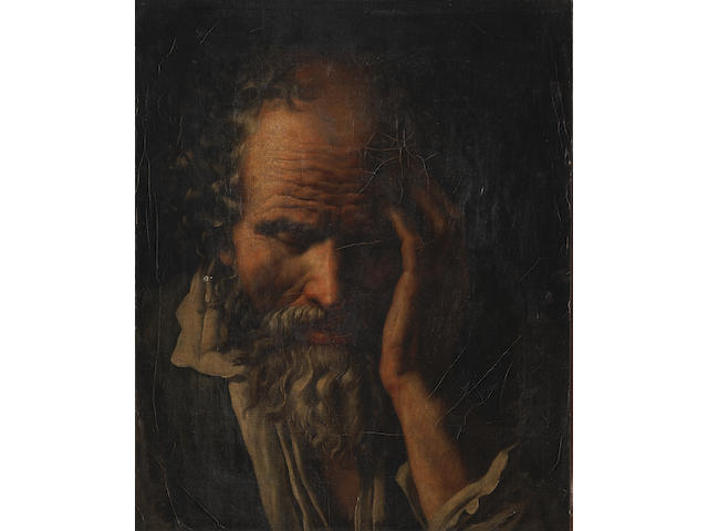 Attributed to Anne-Louis Girodet de Roucy-Trioson (Montargis 1767-1824 Paris) Study of a bearded man