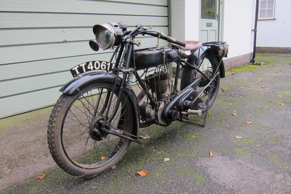 1925 AJS 349cc De Luxe Sporting Model E4 Frame no. 52180 Engine no. 52180