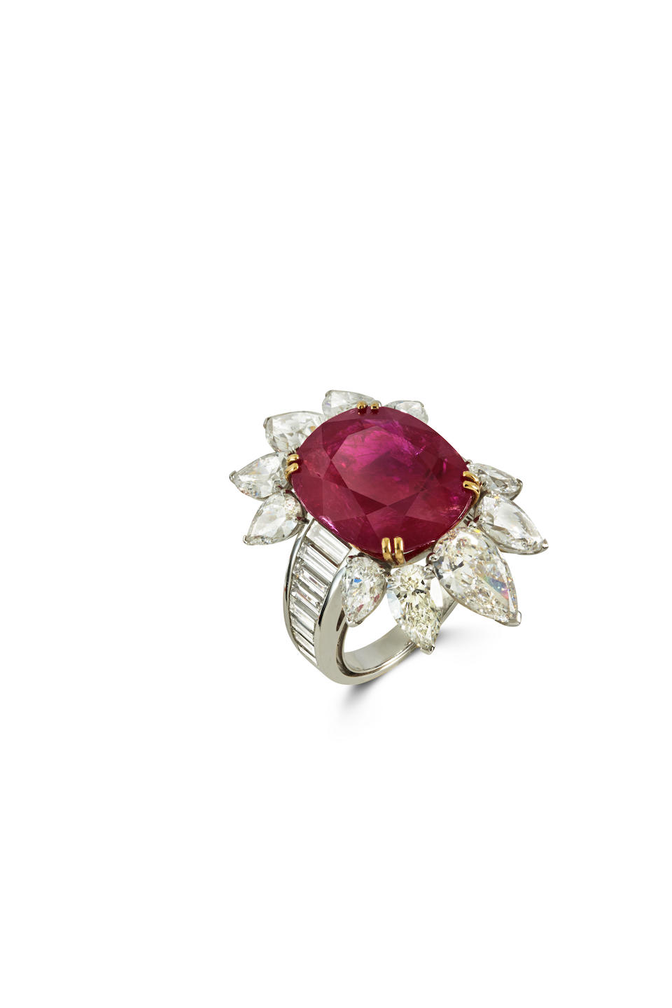 AN IMPRESSIVE RUBY AND DIAMOND RING, BY REPOSSI