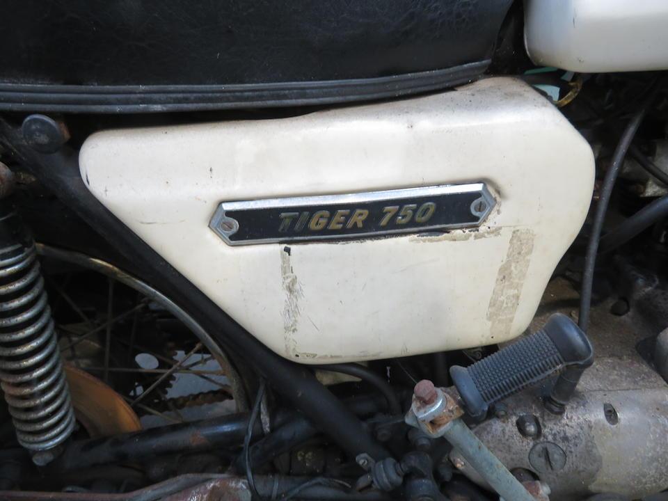 Property of a deceased's estate, 1978 Triumph 744cc TR7V Tiger 750 Frame no. none visible Engine no. TR7RV DX07072