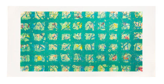 Sam Francis (American, 1923-1994) La Primavera Fredda (Cold Spring) Etching and aquatint in colours, 1988, on Fabriano wove paper, signed and numbered I/X in pencil, one of ten artist's proofs aside from the edition of 30, published by 2RC Edizioni d'Arte, Rome Image 984 x 1994mm. (38 3/4 x 78 1/2in.); Sheet 1159 x 2413mm. (45 5/8 x 95in.)