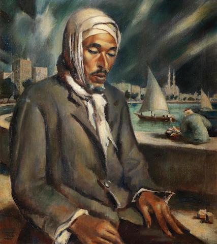 Mahmoud Said (Egypt, 1897-1964) Le Chômeur (The Vagabond)