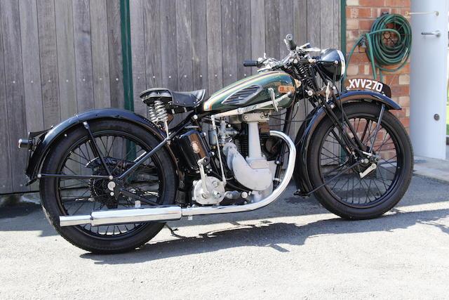 1937 BSA B21 Frame no. HB205440 Engine no. HB211765