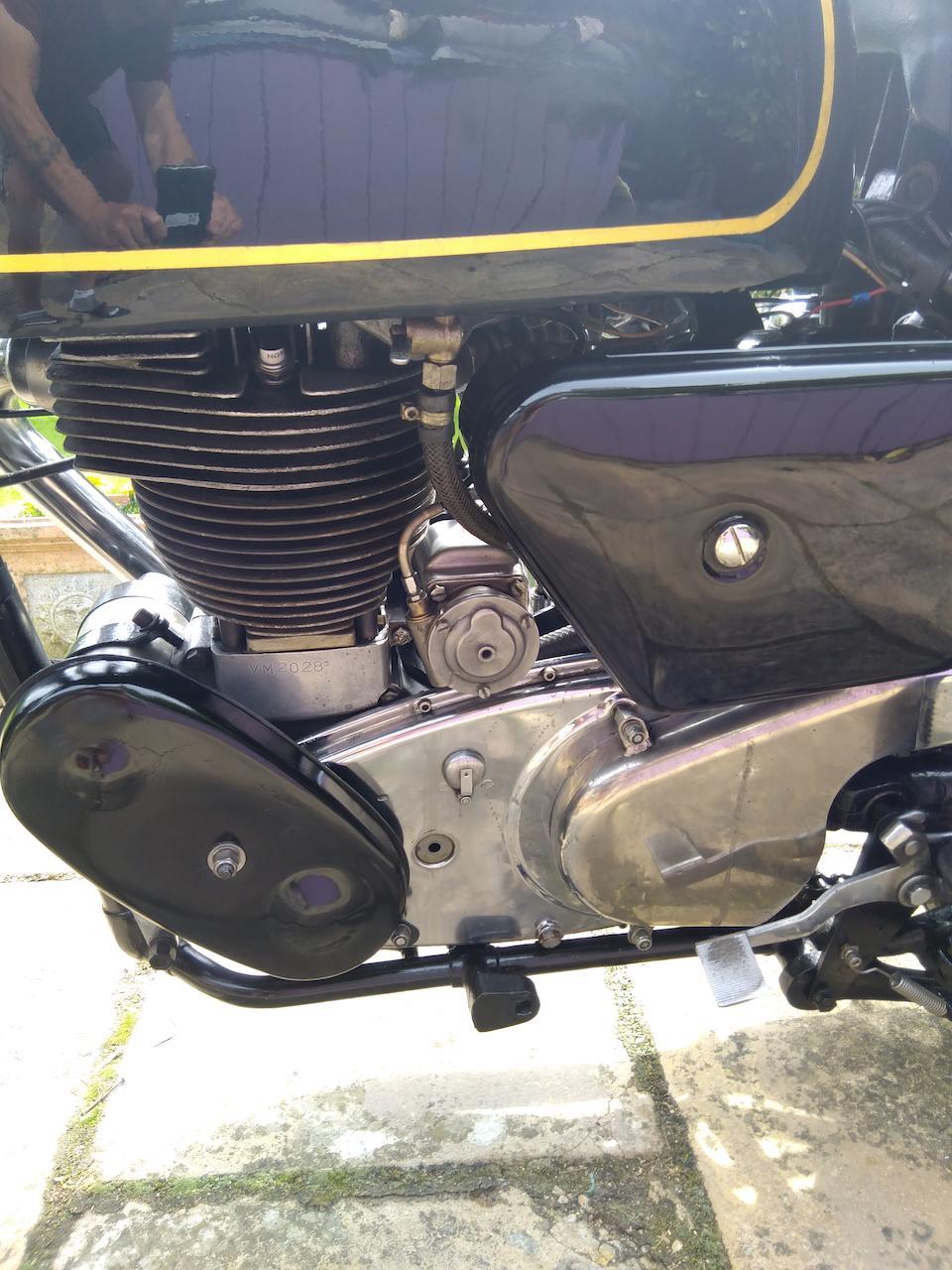1958 Velocette 499cc Venom Frame no. RS15702 Engine no. VM2028