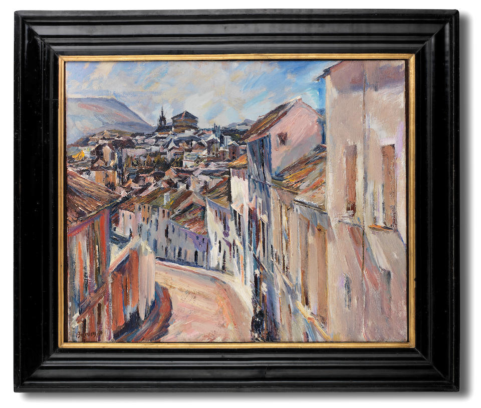 David Bomberg (British, 1890-1957) The Old City and Cathedral, Ronda 64 x 76.1 cm. (25 x 30 in.)