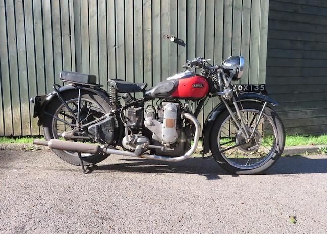 1935 Ariel 601cc Model 4F/6 Square Four Frame no. Y6806 Engine no. WA294 (see text)