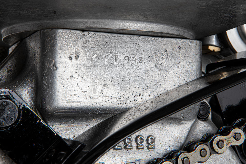 Offered from the National Motorcycle Museum Collection, c.1948 Velocette 348cc KTT Mark VIII Racing Motorcycle Frame no. SF94 Engine no. KTT 982 Gearbox no. 7-5617