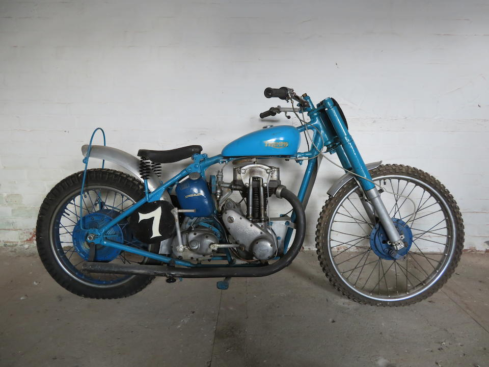 Offered from the Collection of the Late Peter McManus, c.1938 Triumph 249cc Tiger 70 Grass-Tracker Frame no. unable to locate Engine no. 8T70 13159