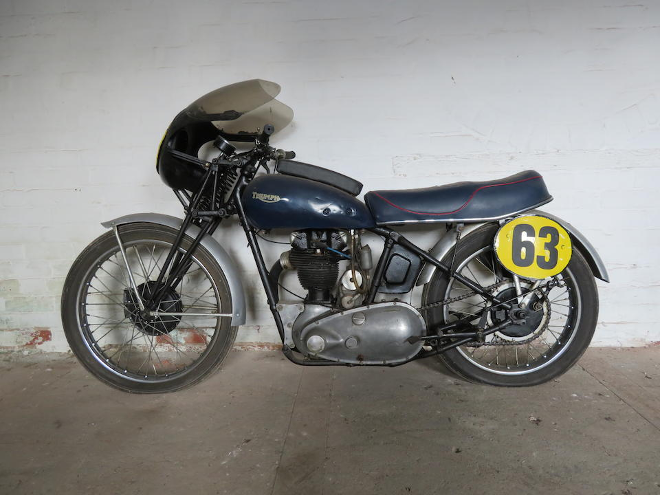 Offered from the Collection of the Late Peter McManus, c.1937 Triumph 343cc '3HW' Racing Motorcycle (see text) Frame no. F1630 Engine no. 3HW 56234